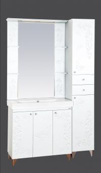 Вирджиния (Бабочка) - 75 цвет белый фактурный