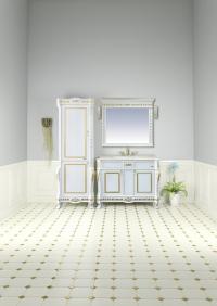 Мануэлла GOLD - 120 цвет белый, позолоченный сусальным золотом