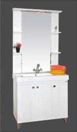 Олимпия - 75 цвет белый, венге-белый, серый металлик