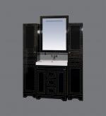 Bella - 75, цвет черный с кристаллами Swarovski